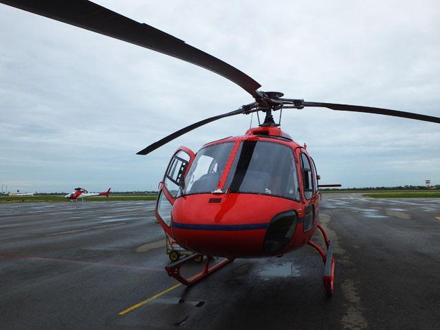 Le décollage en hélicoptère - Angkor de Haut