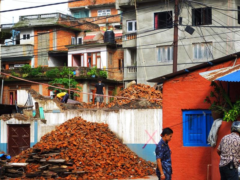 La traversée de katmandou - Népal © Doré. Elisa