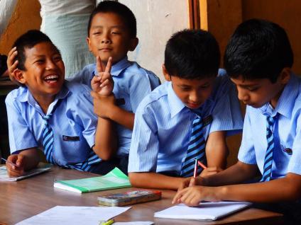 Katmandu satpragya school - Népal 2015 © Doré. Elisa
