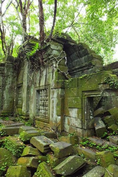 Mur d'enceinte effondré - Beng Méléa