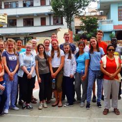 25 volontaires à Satpragya School –Katmandou