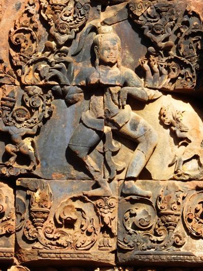 Shiva sur un lotus ouvert