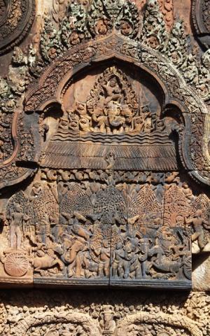 Scène du Râmâyana - Banteay Srei