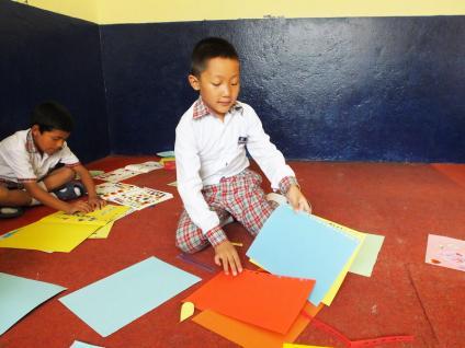 Classe (7- 8 ans)- Katmandu Satpragya School - Népal 2015 © Doré. Elisa
