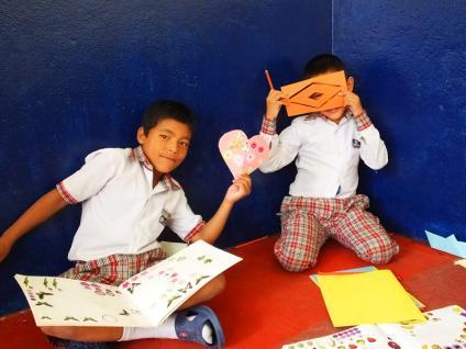 Classe (7- 8 ans) - Katmandu Satpragya school- Népal 2015 © Doré. Elisa