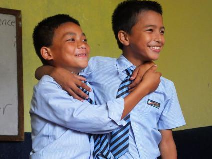 Classe (9-10 ans)- Katmandu Satpragya School - Népal 2015 © Doré. Elisa