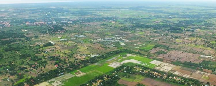 Paysage des environs d'Angkor