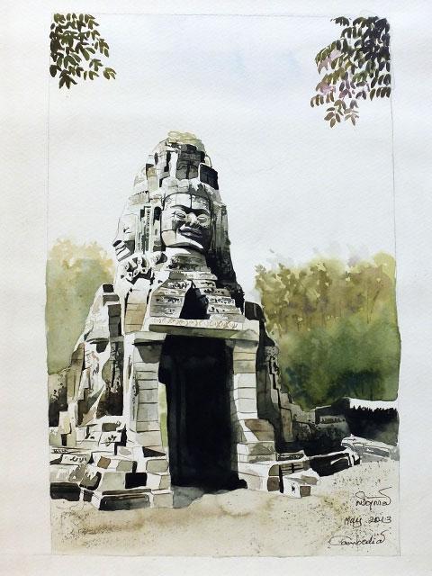 Dessin du Banteay Samré