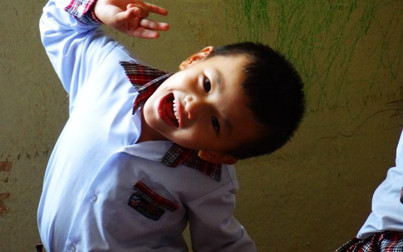Enfant - katmandu satpragya school - Népal 2015 © Doré. Elisa