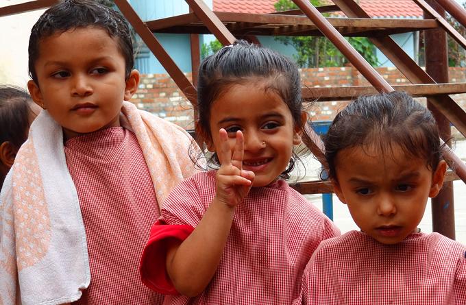 Les enfants de Katmandu Satpragya School