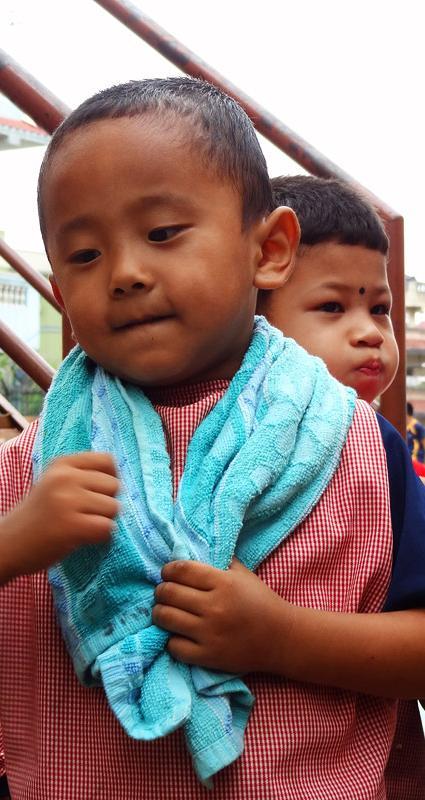 Enfants - Katmandu satpragya school- Népal 2015 © Doré. Elisa