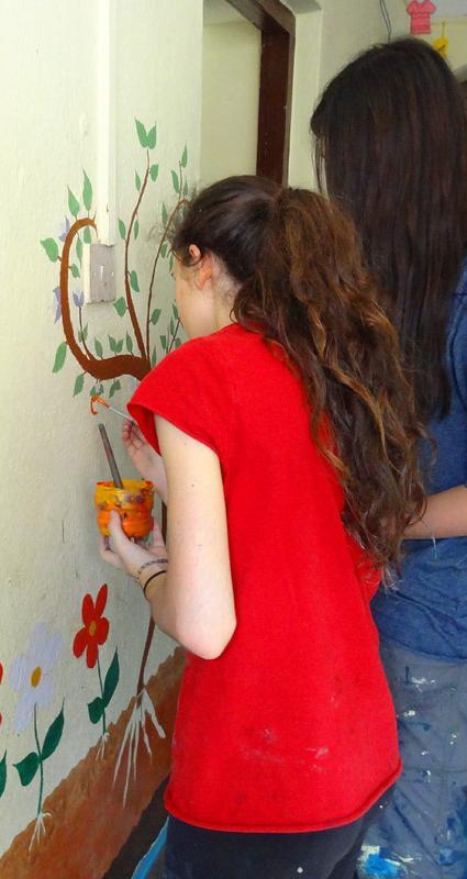 Fresques des volontaires- Népal 2015 © Doré. Elisa