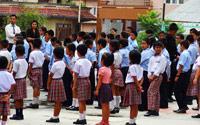 Jour 3 13 07 15 accueil a l ecole kathmandu satpragya school