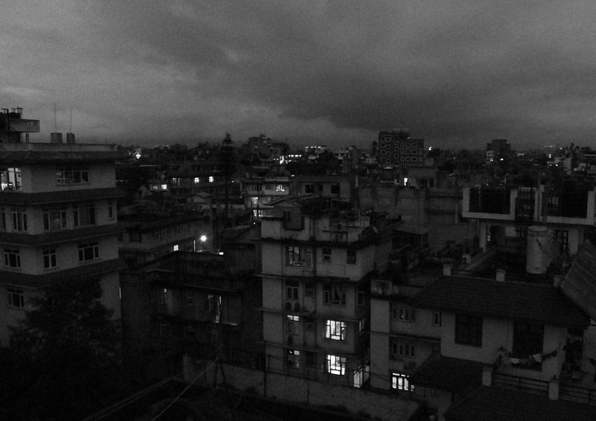 Kathmandou de nuit