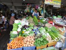 Stand de légumes frais