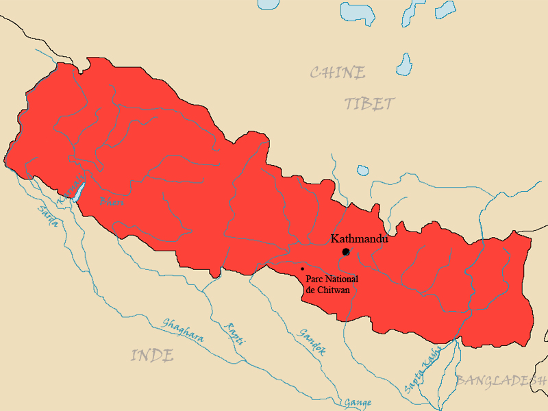 Parcours accompli au Népal