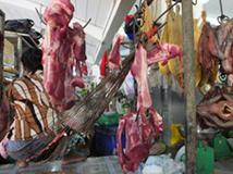 Stand de viande rouge
