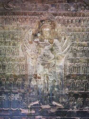Représentation de Vishnou dans la tour centrale